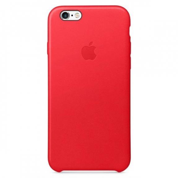 Originální kožený kryt pro Apple iPhone 6S - červený MKXX2ZM/A - možnost vrátit zboží ZDARMA do 30ti dní