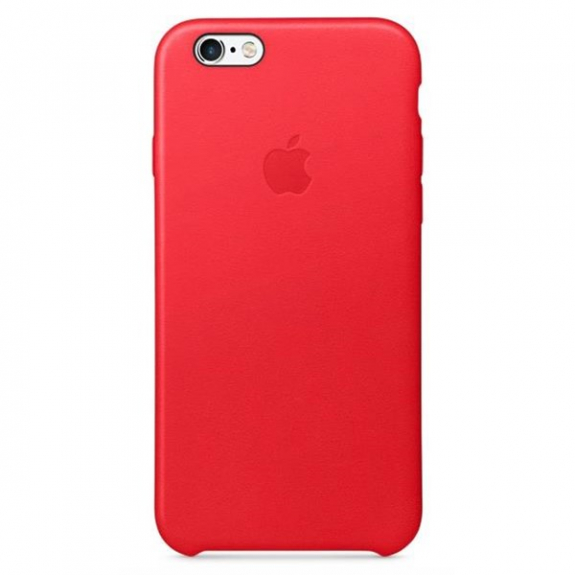 Originální kožený kryt pro Apple iPhone 6S Plus - červený MKXG2ZM/A - možnost vrátit zboží ZDARMA do 30ti dní