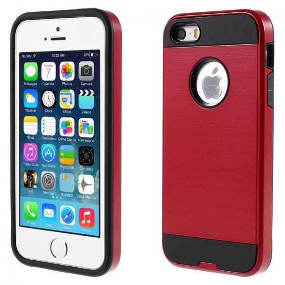 AppleKing pouzdro 2v1 pro Apple iPhone 5 / 5S / SE - červené - možnost vrátit zboží ZDARMA do 30ti dní