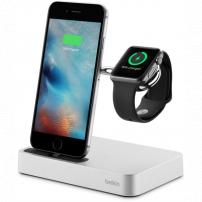 Belkin Valet nabíječka s integrovaným nabíjením pro Apple Watch a iPhone - stříbrná