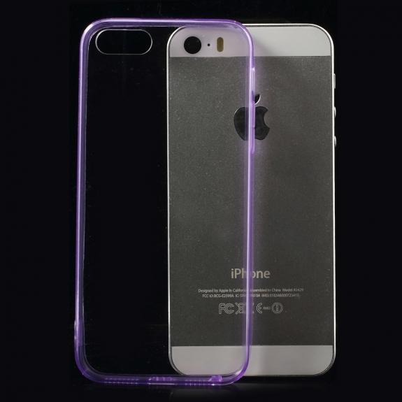 AppleKing ultratenký 0.5 mm obal pro Apple iPhone 5 / 5S / SE - fialové - možnost vrátit zboží ZDARMA do 30ti dní