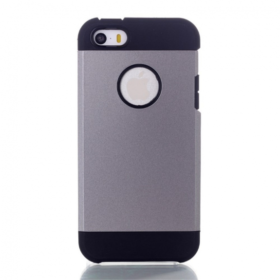 AppleKing pouzdro 2v1 pro Apple iPhone 5 / 5S / SE - šedé - možnost vrátit zboží ZDARMA do 30ti dní