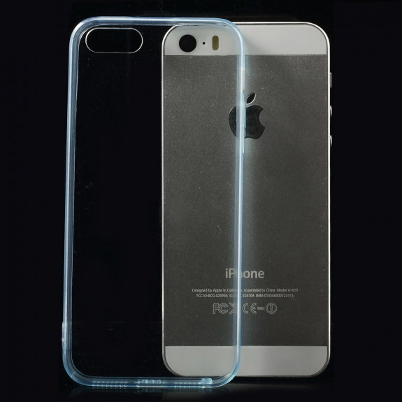 Ultratenký 0.5 mm obal pro Apple iPhone 5 / 5S / SE - modrý