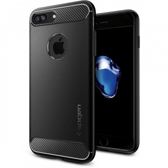 Spigen Rugged stylový ochranný Armor kryt pro Apple iPhone 7 Plus   8 Plus  - černý 080823bdfee