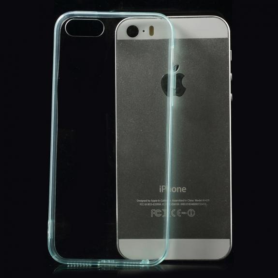 AppleKing ultratenký 0.5 mm obal pro Apple iPhone 5 / 5S / SE - tyrkysový - možnost vrátit zboží ZDARMA do 30ti dní