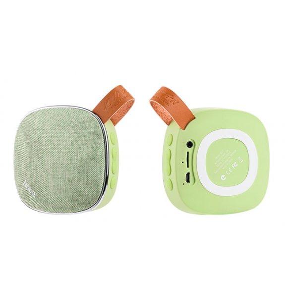 HOCO přenosný Bluetooth reproduktor s textilním povrchem pro Apple zařízení - zelený - možnost vrátit zboží ZDARMA do 30ti dní