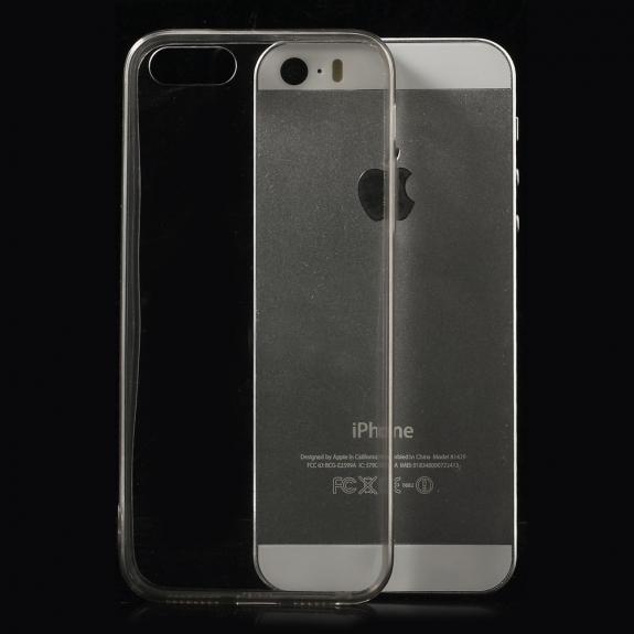 AppleKing ultratenký 0.5 mm obal pro Apple iPhone 5 / 5S / SE - šedý - možnost vrátit zboží ZDARMA do 30ti dní