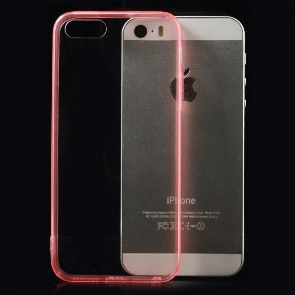 AppleKing ultratenký 0.5 mm obal pro Apple iPhone 5 / 5S / SE - červený - možnost vrátit zboží ZDARMA do 30ti dní