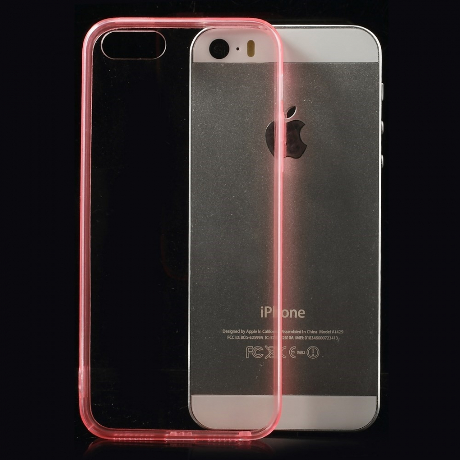 c7a726a42e Ultratenký 0.5 mm obal pro Apple iPhone 5   5S   SE - červený ...