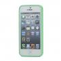 Ochranný plastový rámeček / bumper pro Apple iPhone 5 / 5S / SE - zelený