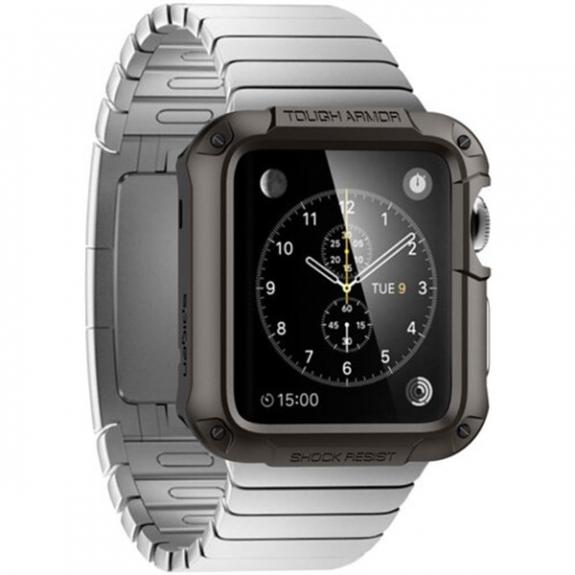 Spigen Armor odolné pouzdro pro Apple Watch S1 / S2 42mm - šedé - možnost vrátit zboží ZDARMA do 30ti dní