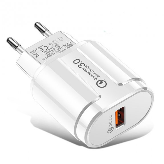 AppleKing rychlonabíjecí adaptér 18W QC 3.0 pro bezdrátové stojánky - bílý - možnost vrátit zboží ZD