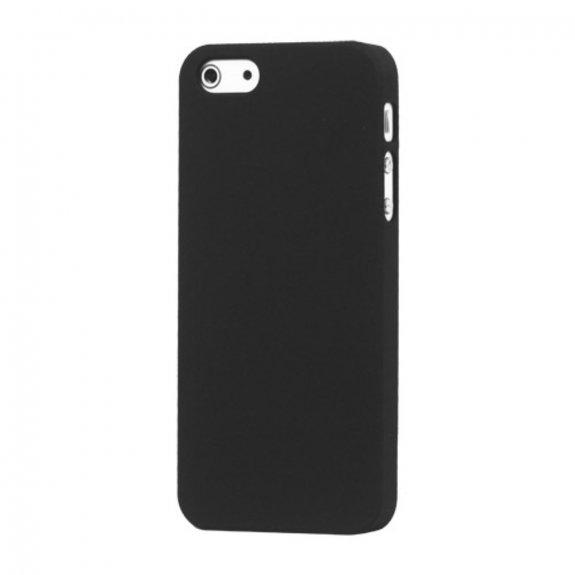 AppleKing matný pogumovaný kryt pro iPhone 5 / 5S / SE - černý - možnost vrátit zboží ZDARMA do 30ti dní