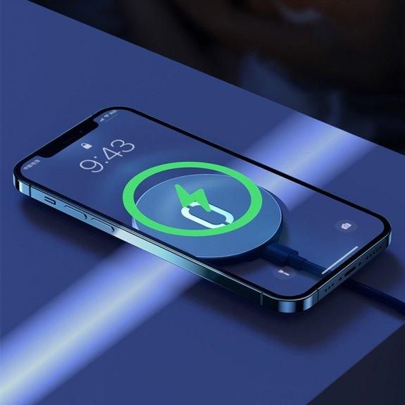 Joyroom ultra tenká podložka pro bezdrátové nabíjení MagSafe pro iPhone 12 / 12 Pro / 12 mini / 12 Pro - modrá Max - možnost vrátit zboží ZDARMA do 30ti dní