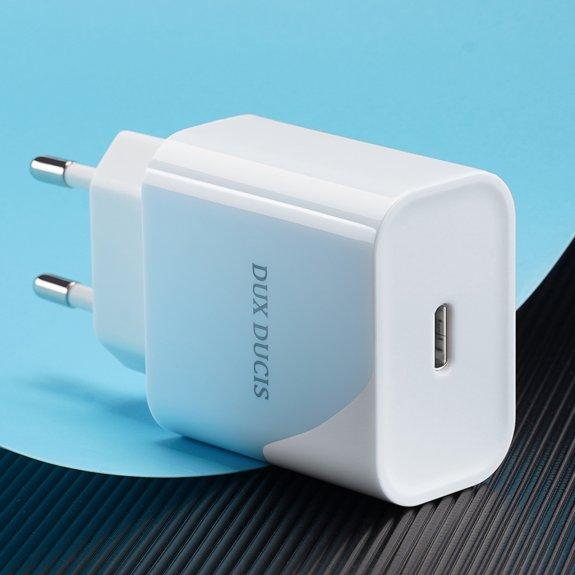 Dux Ducis 20W nabíjecí adaptér s portem USB-C - bílý - možnost vrátit zboží ZDARMA do 30ti dní