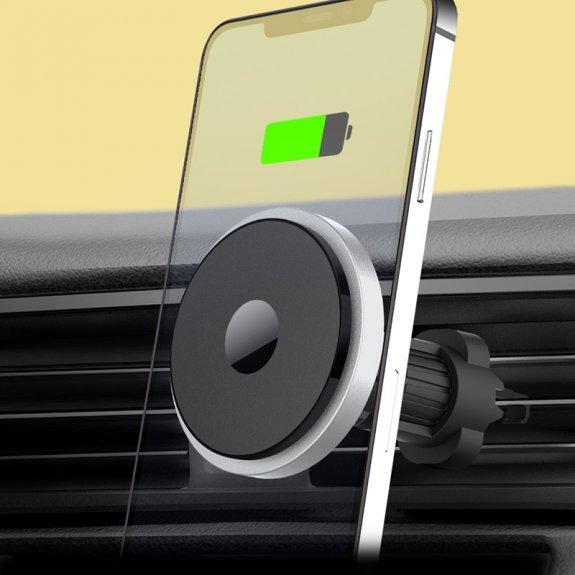 AppleKing držák do ventilační mřížky auta pro bezdrátové nabíjení iPhone 12 / 12 Pro / 12 mini / 12 Pro Max - možnost vrátit zboží ZDARMA do 30ti dní
