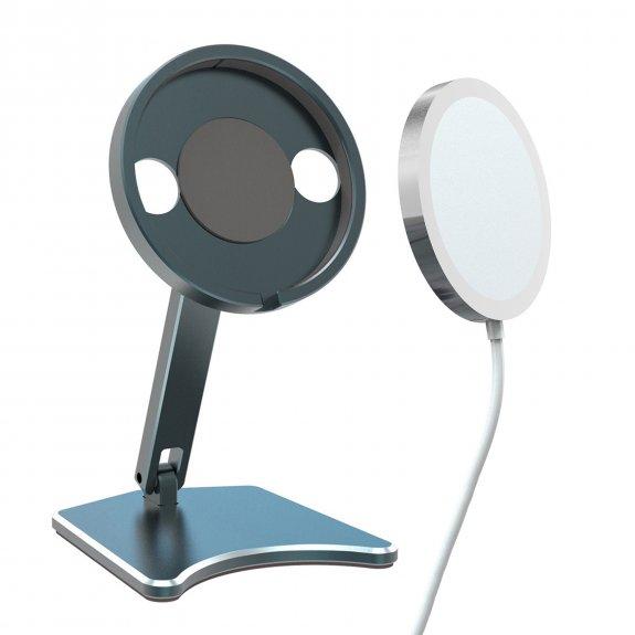 AppleKing skládací hliníkový stojánek na bezdrátovou nabíječku MagSafe - tmavě šedá - možnost vrátit zboží ZDARMA do 30ti dní
