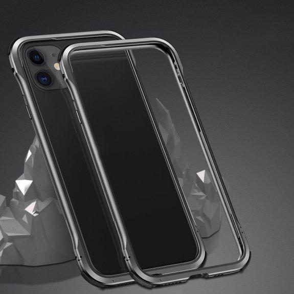AppleKing ochranný kovový rámeček k ochraně hran iPhone 11 - černý - možnost vrátit zboží ZDARMA do 30ti dní