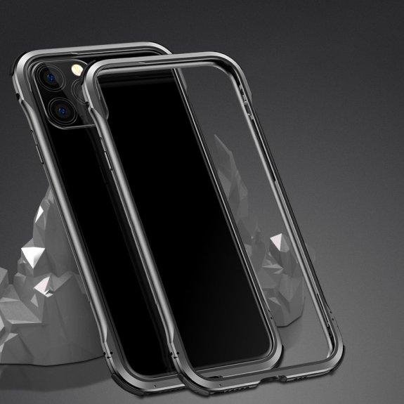 AppleKing ochranný kovový rámeček k ochraně hran iPhone 11 Pro Max - černý - možnost vrátit zboží ZDARMA do 30ti dní