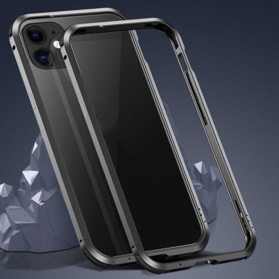 AppleKing ochranný kovový rámeček k ochraně hran iPhone 12 / 12 Pro - černý - možnost vrátit zboží ZDARMA do 30ti dní