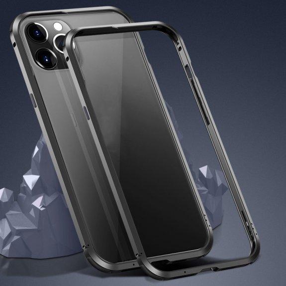 AppleKing ochranný kovový rámeček k ochraně hran iPhone 12 Pro Max - černý - možnost vrátit zboží ZDARMA do 30ti dní
