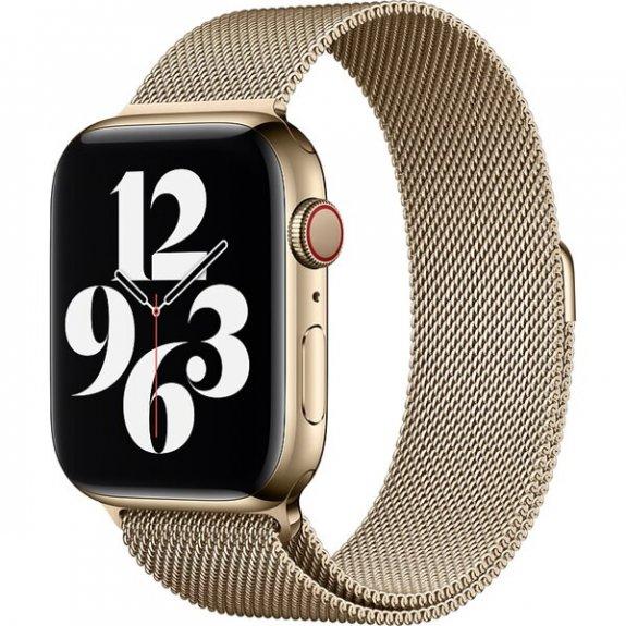 Originální milánský tah pro Apple Watch 44mm / 42mm - zlatý MYAP2ZM/A - možnost vrátit zboží ZDARMA do 30ti dní