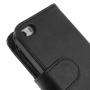 Kožené pouzdro se sloty na karty pro Apple iPhone 5 / 5S / SE - černé