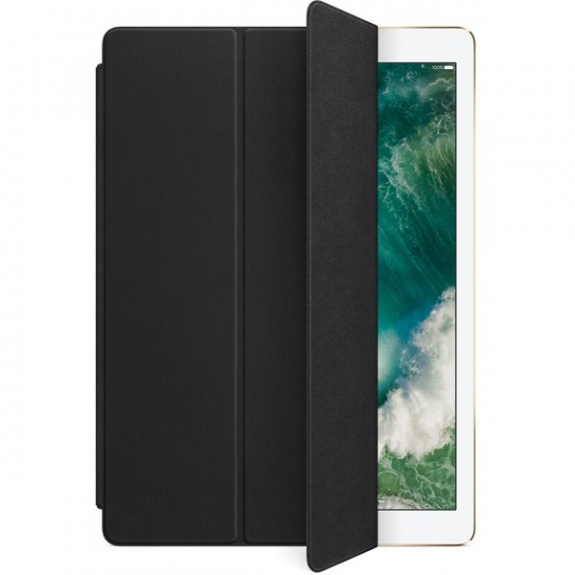 """Originální Smart Cover kožený přední kryt pro Apple iPad Pro 12,9"""" - černý MPV62ZM/A - možnost vrátit zboží ZDARMA do 30ti dní"""