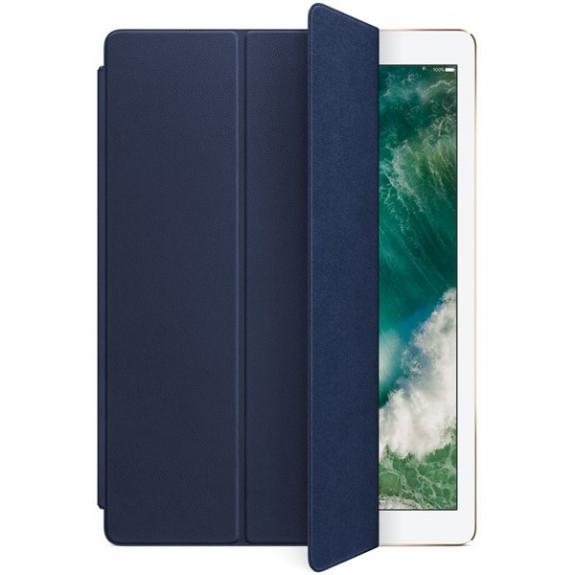 """Originální Smart Cover kožený přední kryt pro Apple iPad Pro 12,9"""" - půlnočně modrý MPV22ZM/A - možnost vrátit zboží ZDARMA do 30ti dní"""