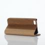 Peněženkové pouzdro pro Apple iPhone 5 / 5S / SE - hnědé