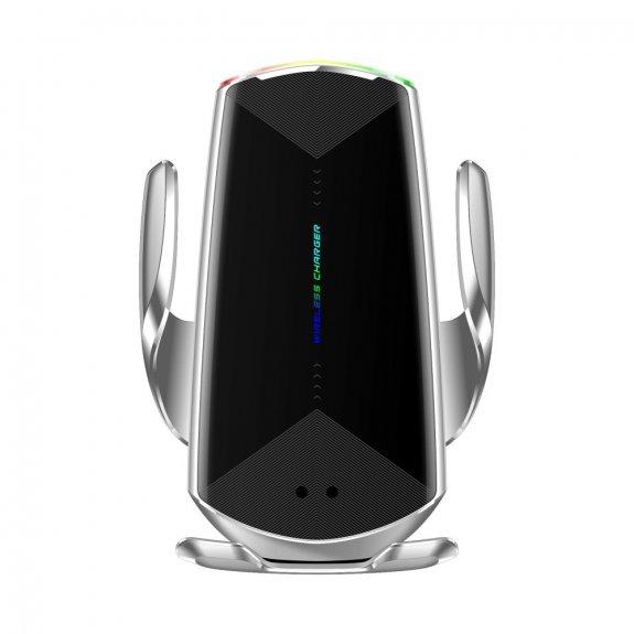 AppleKing inteligentní rychlá 15W bezdrátová nabíječka do ventilační mřížky auta pro iPhone - stříbrná - možnost vrátit zboží ZDARMA do 30ti dní