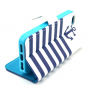 Peněženkové pouzdro se stojánkem pro Apple iPhone 5 / 5S / SE - Pruhy a kotva