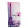 Peněženkové pouzdro se stojánkem a sloty na karty pro Apple iPhone 5 / 5S / SE - Paříž a Eiffelovka
