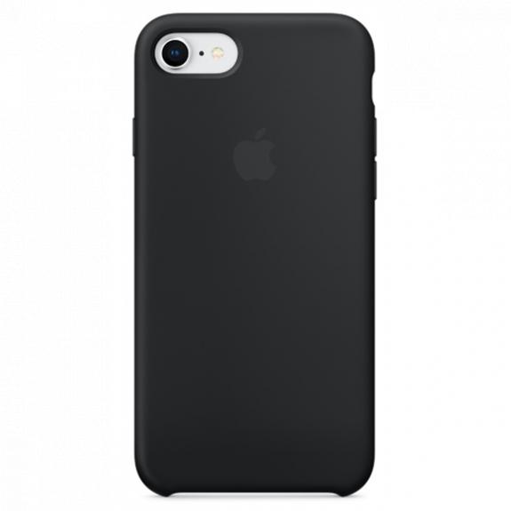 Originální silikonový kryt pro Apple iPhone SE (2020) / 8 / 7 - černý MQGK2ZM/A - možnost vrátit zboží ZDARMA do 30ti dní