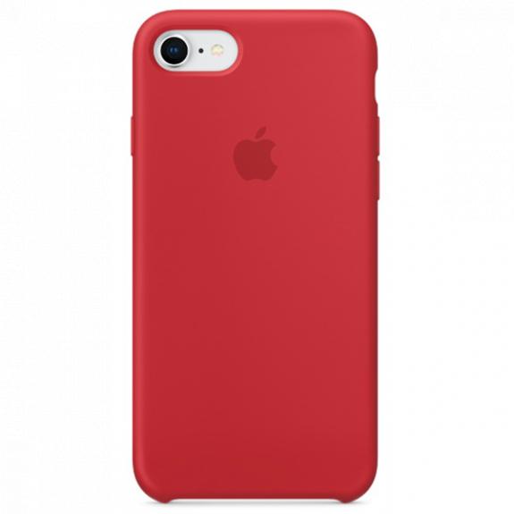 Originální silikonový kryt pro Apple iPhone 8 / 7 - červený MQGP2ZM/A - možnost vrátit zboží ZDARMA do 30ti dní
