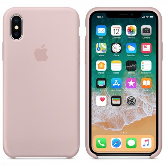 Originální silikonový kryt pro Apple iPhone XS / iPhone X - pískově růžový MQT62ZM/A - možnost vrátit zboží ZDARMA do 30ti dní