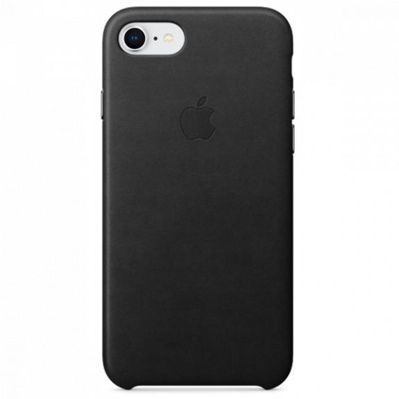 Originální kožené pouzdro pro Apple iPhone SE (2020) / 8 / 7 - černé MQH92ZM/A - možnost vrátit zboží ZDARMA do 30ti dní