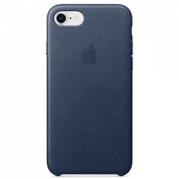 Originální kožené pouzdro pro Apple iPhone 8 / 7 - půlnočně modré MQH82ZM/A - možnost vrátit zboží ZDARMA do 30ti dní