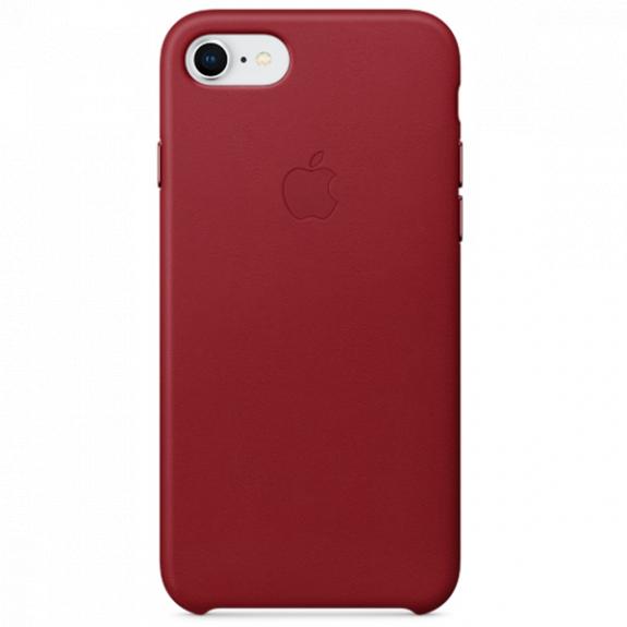 Originální kožené pouzdro pro Apple iPhone SE (2020) / 8 / 7 - červené MQHA2ZM/A - možnost vrátit zboží ZDARMA do 30ti dní
