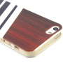 Ochranný kryt na Apple iPhone 5 / 5S / SE - Wood grain