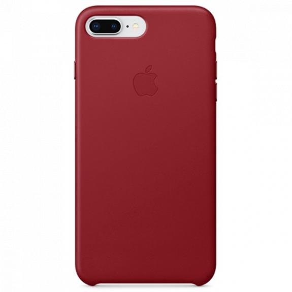 Originální kožené pouzdro pro Apple iPhone 8 Plus / 7 Plus - červené MQHN2ZM/A - možnost vrátit zboží ZDARMA do 30ti dní