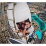 Teleskopická selfie tyč / monopod s drátovou spouští pro iPhone - délka 101.4cm - černá