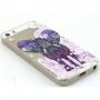 Kryt s diamantovým reliéfem na Apple iPhone 5 / 5S / SE - Slon a květiny