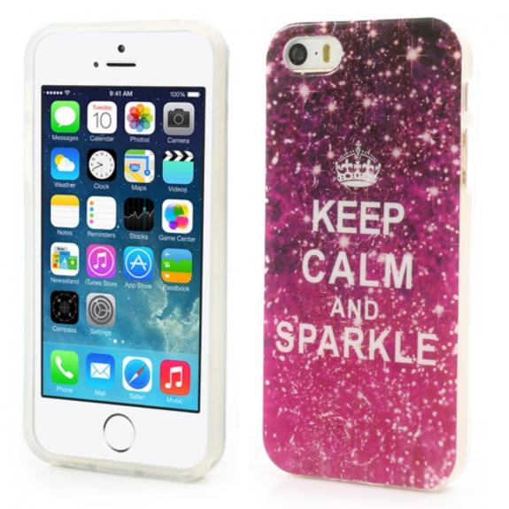 AppleKing elegantní kryt na Apple iPhone 5 / 5S / SE - Keep Calm and Sparkle - možnost vrátit zboží ZDARMA do 30ti dní