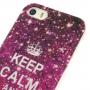 Elegantní kryt na Apple iPhone 5 / 5S / SE - Keep Calm and Sparkle