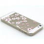 Kryt s diamantovým reliéfem na Apple iPhone 5 / 5S / SE - Květinový vzor