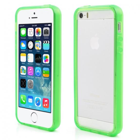 AppleKing obal bumper pro Apple iPhone 5 / 5S / SE - zelené - možnost vrátit zboží ZDARMA do 30ti dní