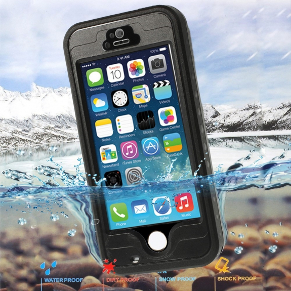 AppleKing voděodolné pouzdro / obal se snímačem otisků pro Apple iPhone 5 / 5S / SE - možnost vrátit zboží ZDARMA do 30ti dní