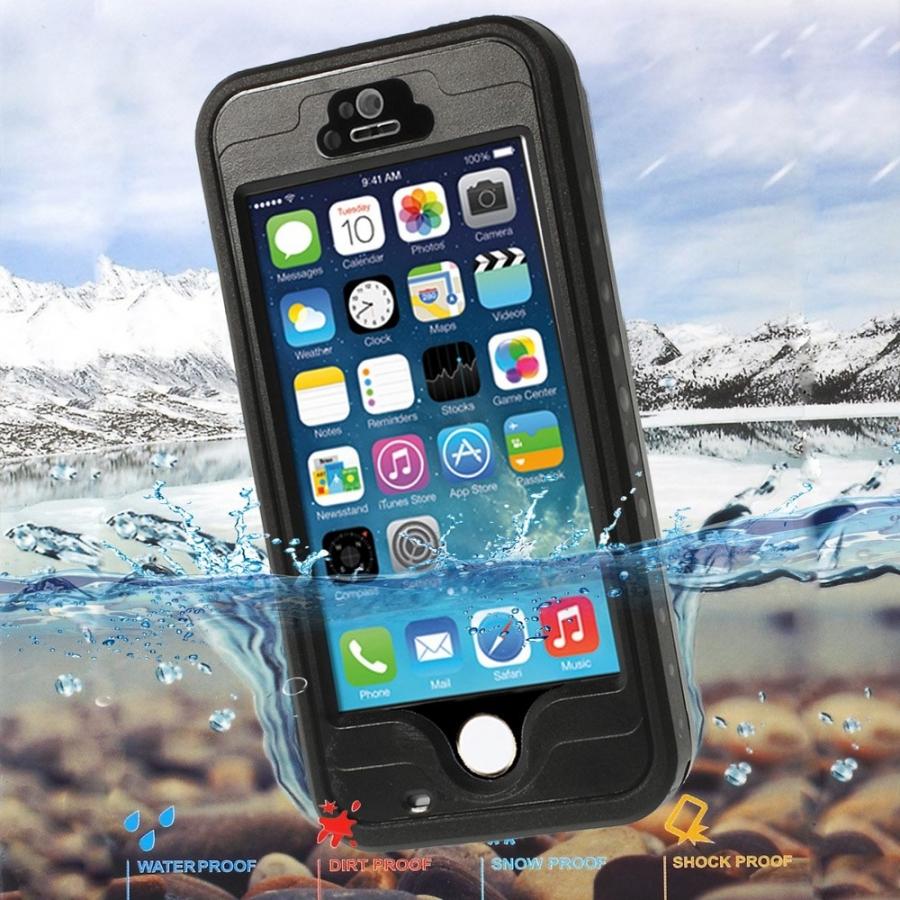 Voděodolné pouzdro   obal se snímačem otisků pro Apple iPhone 5   5S   SE  ... 04c3c91427f