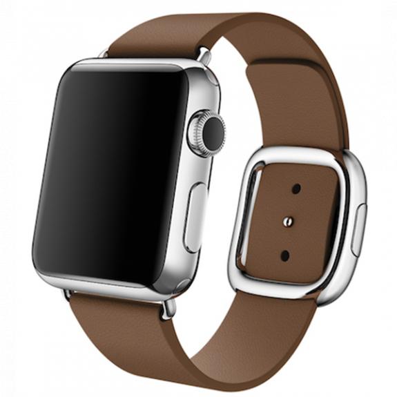 Originální řemínek s moderní přezkou pro Apple Watch 40mm / Watch 38mm - ve velikosti S - hnědý MJ542ZM/A - možnost vrátit zboží ZDARMA do 30ti dní